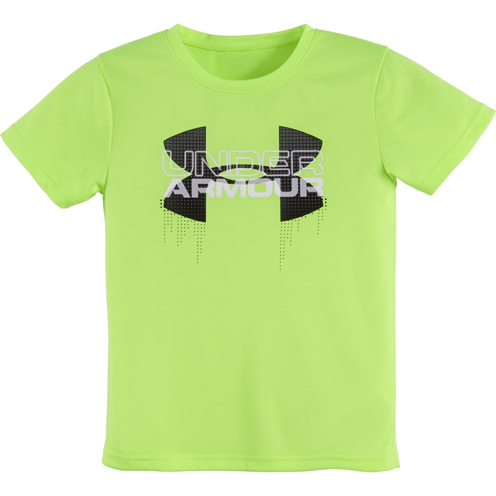 UNDER ARMOUR Boys' 4-7 Big Logo Iteration Tee - FUEL GREEN-70