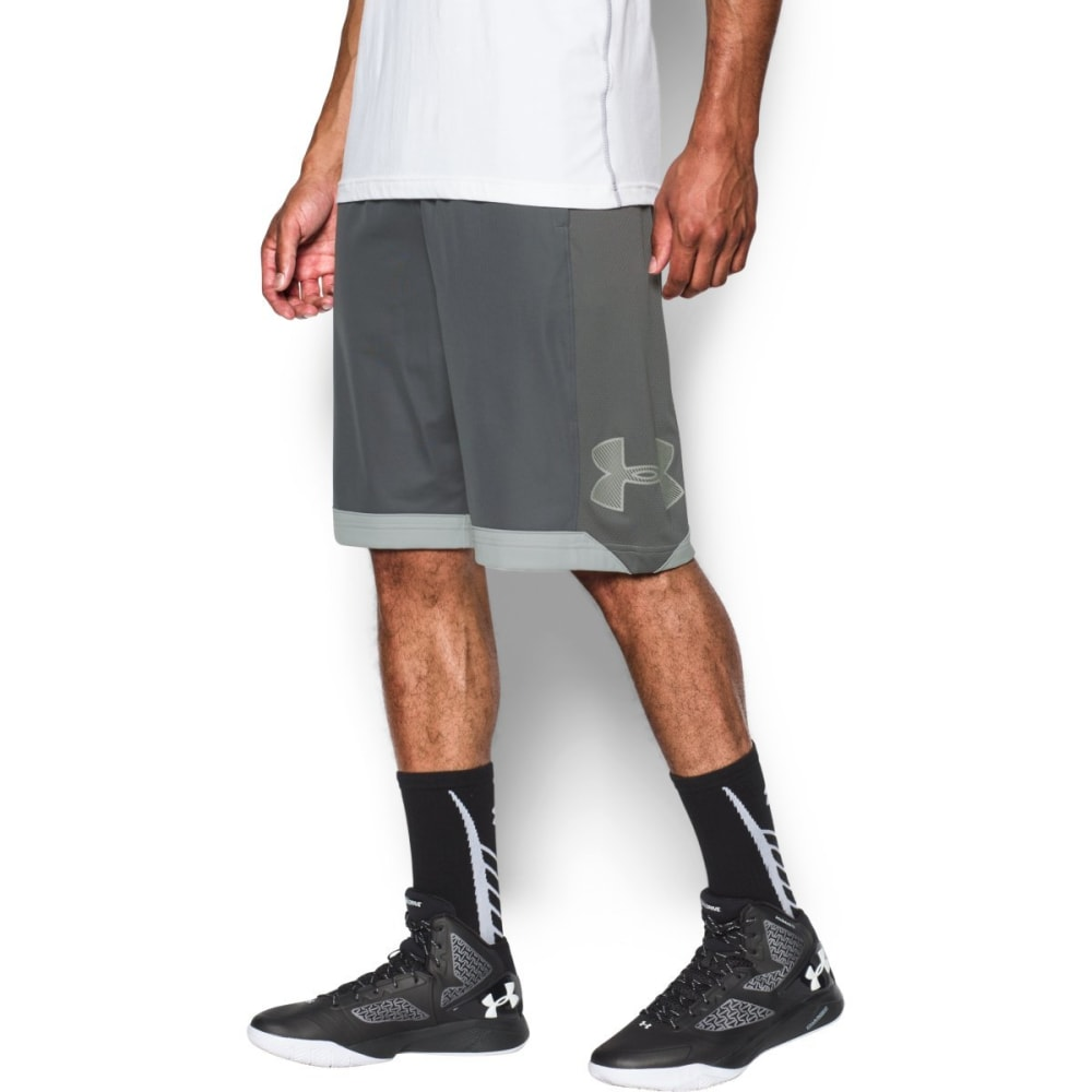UNDER ARMOUR Men's Isolation Basketball Shorts - GRAPHITE/GRY-040