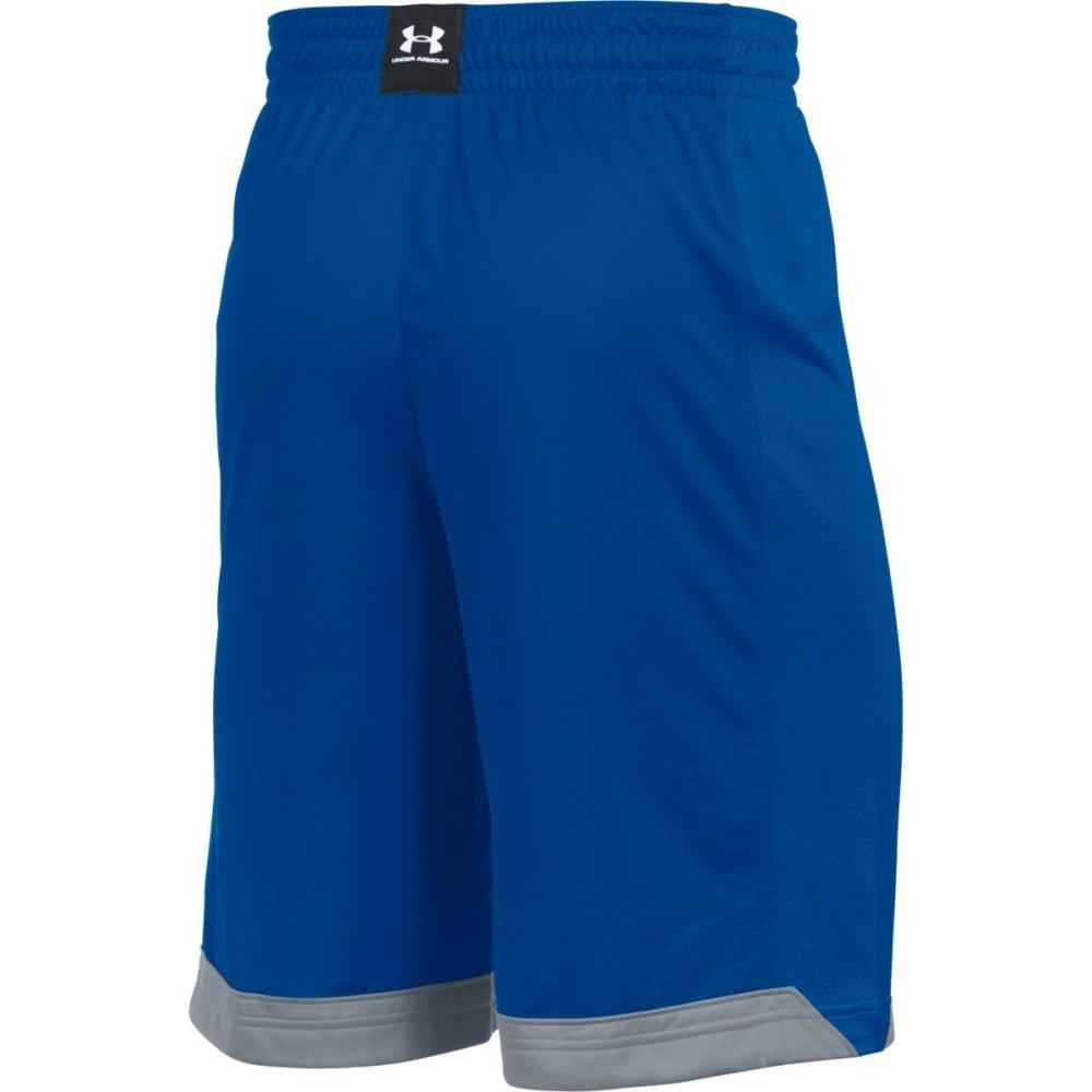 UNDER ARMOUR Men's Isolation Basketball Shorts - ROYAL/WHITE-400