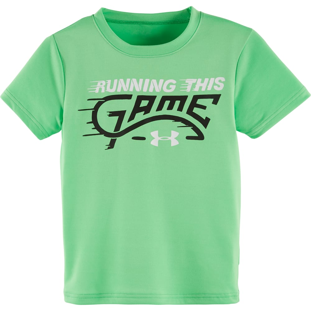 UNDER ARMOUR Boys' Running This Game Tee - LASER GREEN-34