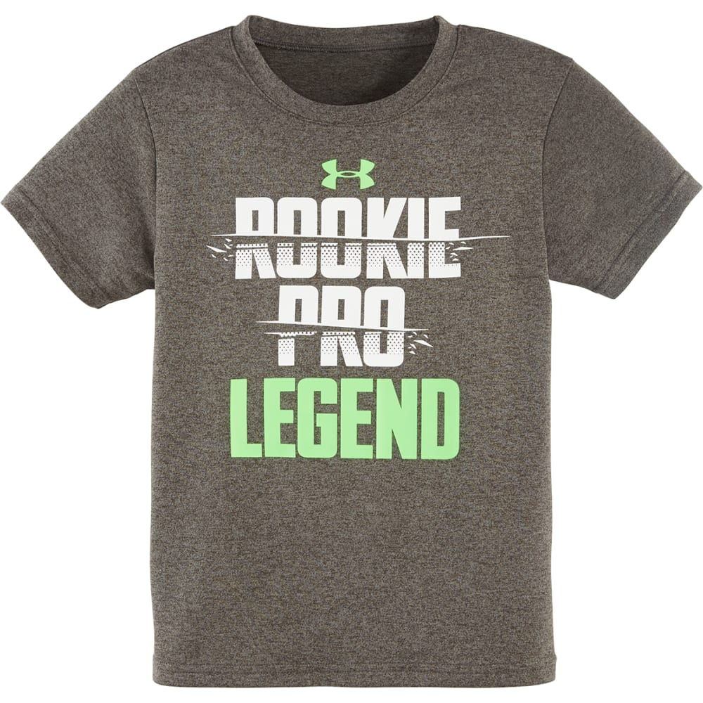 UNDER ARMOUR Boys' Rookie Pro Legend Tee - CGH/WHT/GRN-04