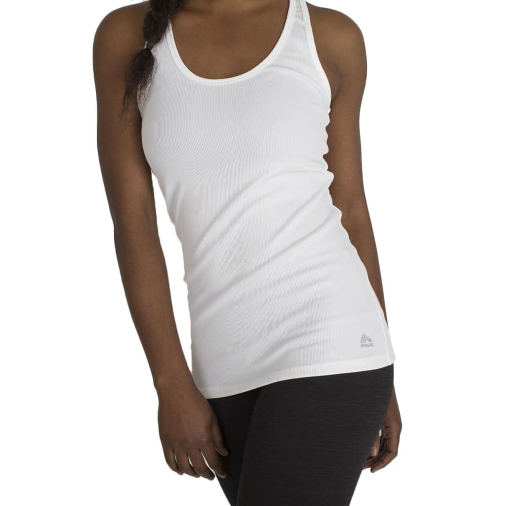 RBX Women's Ribbed Tank - WHITE-A