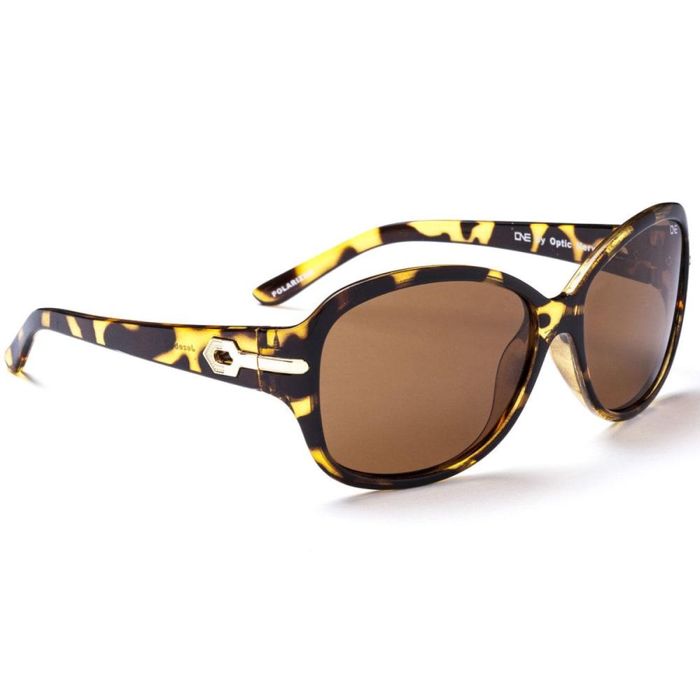 ONE BY OPTIC NERVE Women's Jezebel Polarized Sunglasses, Honey Demi ONESIZE