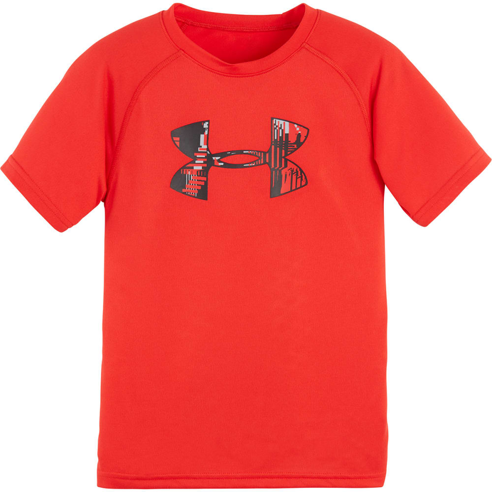 UNDER ARMOUR Boys' 4-7 Big Logo Tee - RISK RED-61