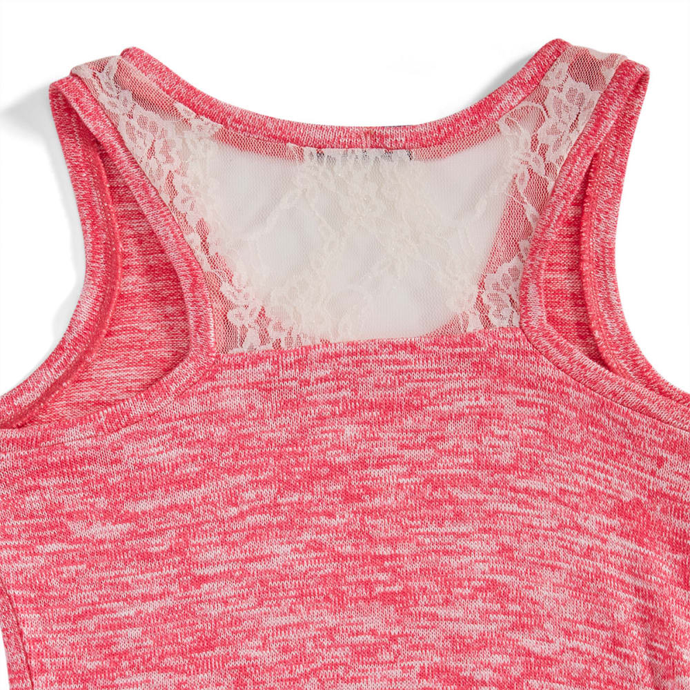 "MISS CHIEVOUS Girls' ""Wonderful"" Hacci Tank - 660 STRAWBERRY TAFFY"