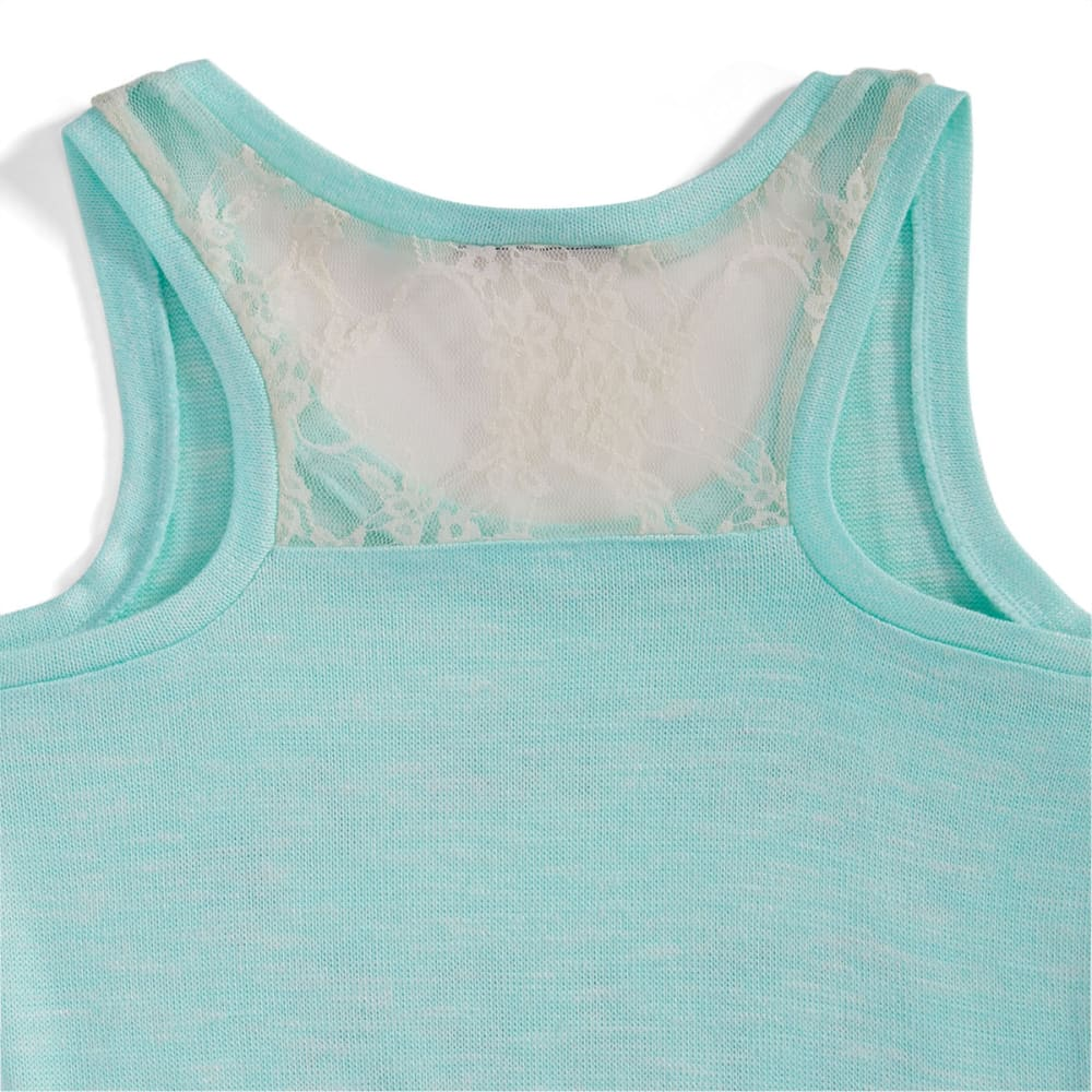 """MISS CHIEVOUS Girls' """"Shoot for the Stars"""" Hacci Tank - 030 BEACH GLASS"""