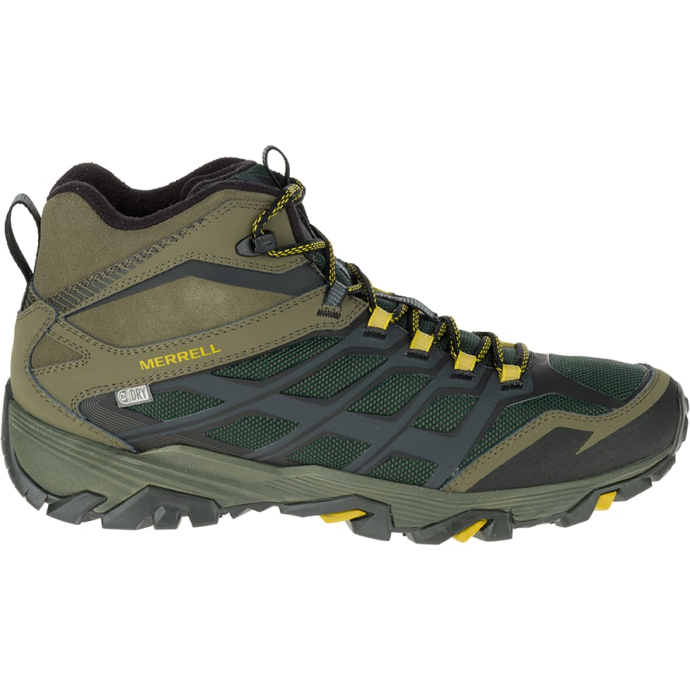 MERRELL Men's Moab FST Ice+ Thermo Boots, Pine Grove - PINE GROVE/DUSTY OLI