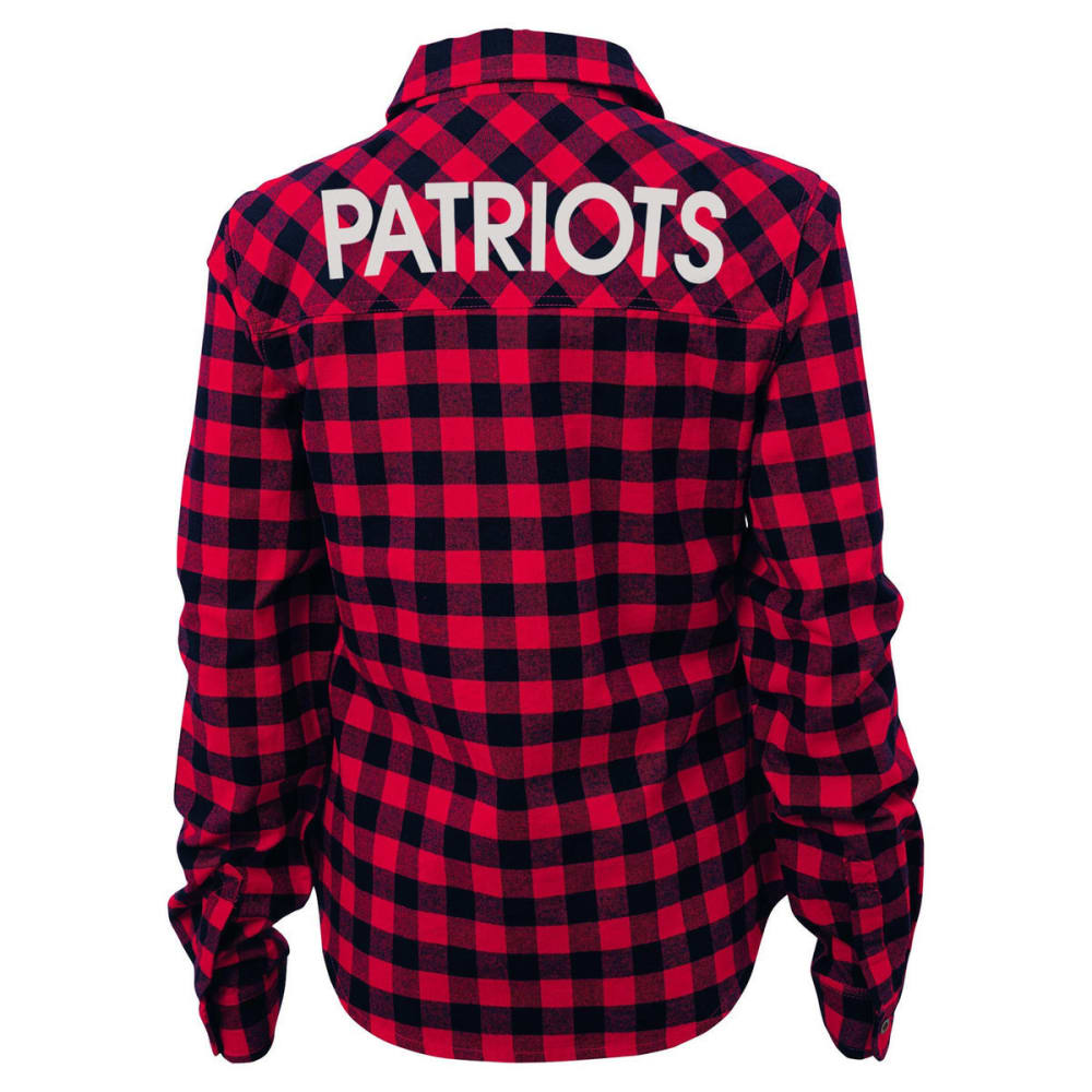 NEW ENGLAND PATRIOTS Women's Buffalo Long Sleeve Woven Plaid Shirt - ASSORTED