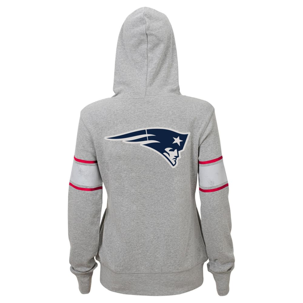 NEW ENGLAND PATRIOTS Juniors' Boyfriend Full-Zip Hoodie - GREY