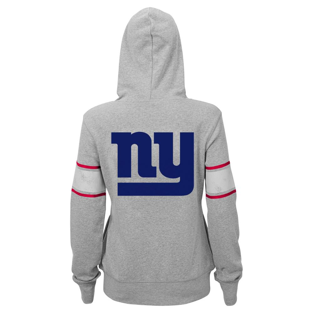 NEW YORK GIANTS Women's Boyfriend Fleece Jacket - GREY