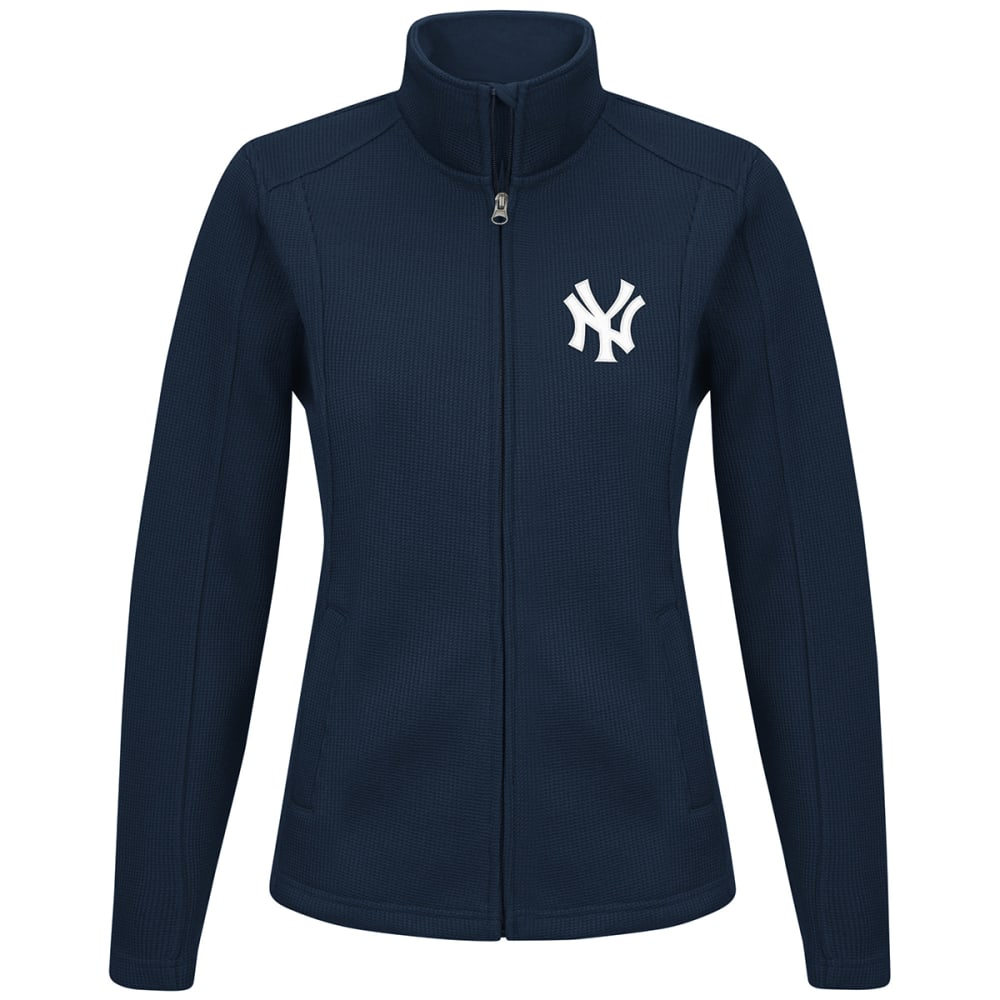 NEW YORK YANKEES Women's Blind Side Full-Zip Jacket - NAVY