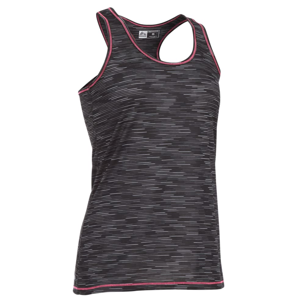 RBX Women's Long Space Dye Jersey Tank - BLACK-A