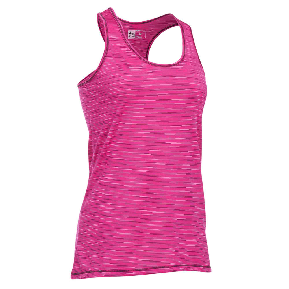 RBX Women's Long Space Dye Jersey Tank - FUSHIA-B