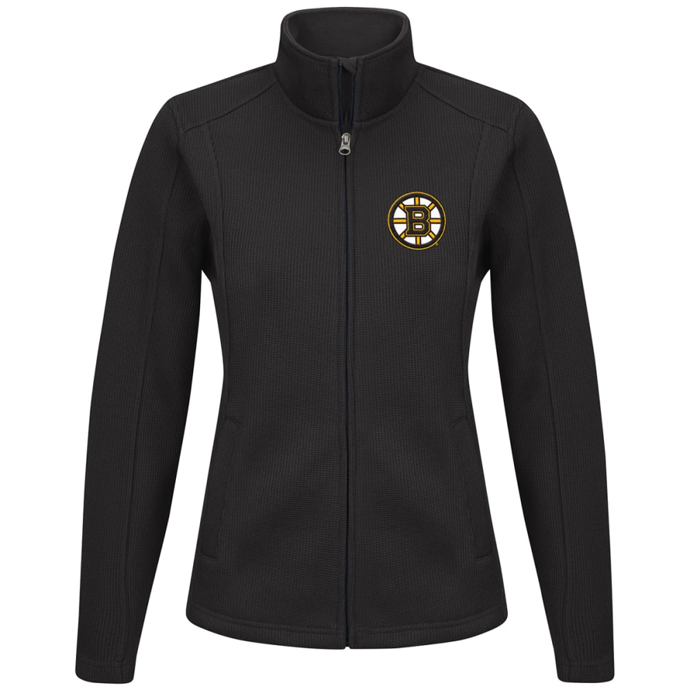 BOSTON BRUINS Women's Blind Side Full-Zip Jacket - BLACK