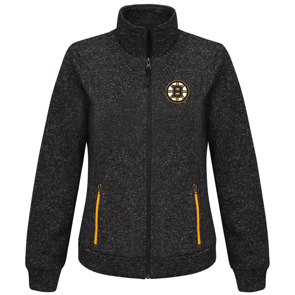 BOSTON BRUINS Women's Checkpoint Full Zip Jacket - BLACK