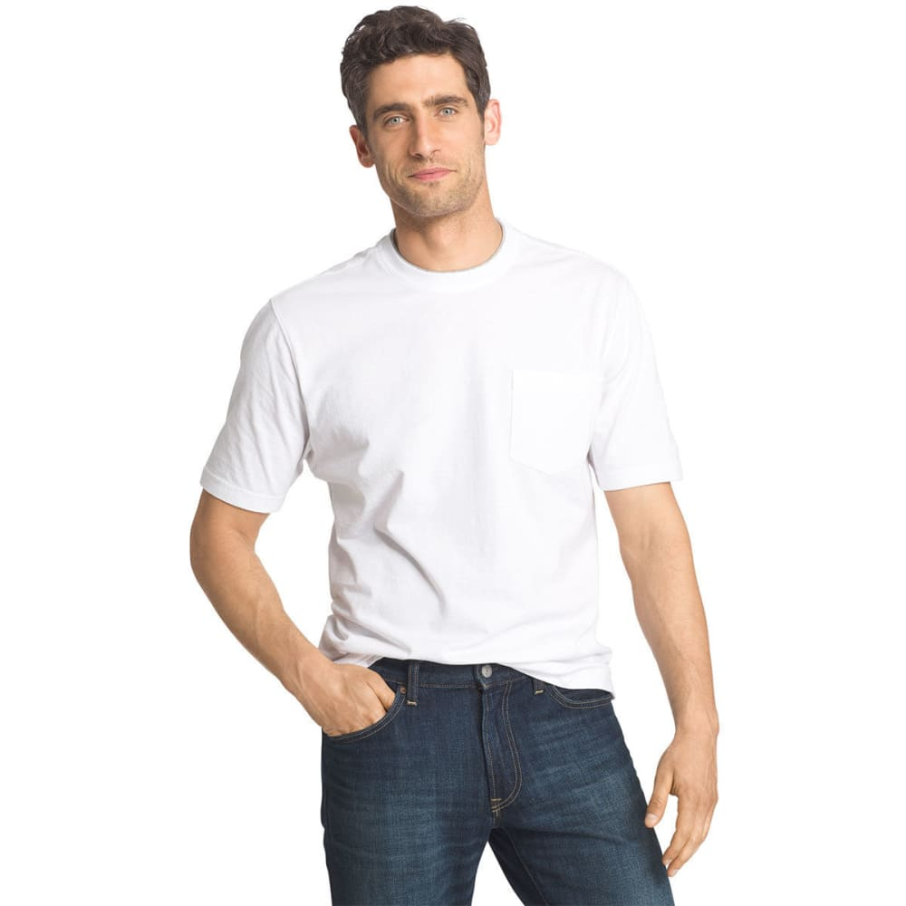 IZOD Men's Short-Sleeve Basic Crew Neck Solid Tee S