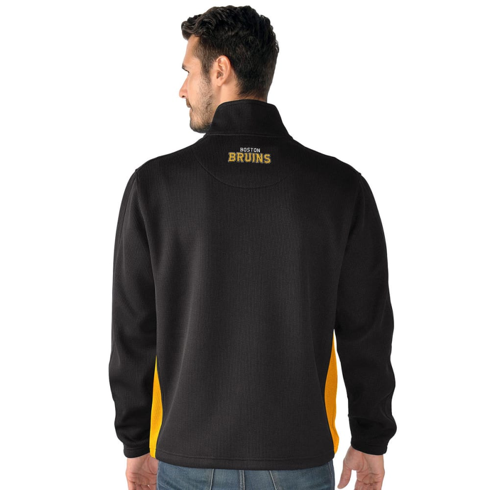 BOSTON BRUINS Men's Hail Mary Half Zip Pullover - BLACK