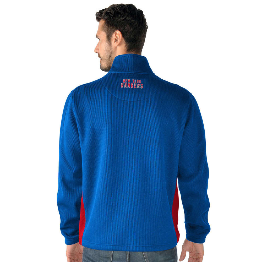 NEW YORK RANGERS Men's Hail Mary Half Zip Pullover - ROYAL BLUE