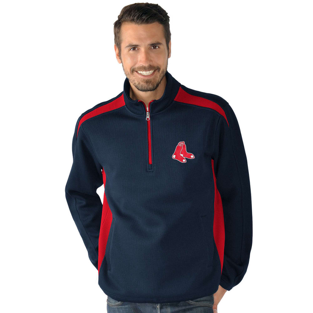 BOSTON RED SOX Men's Hail Mary Half Zip Pullover - NAVY