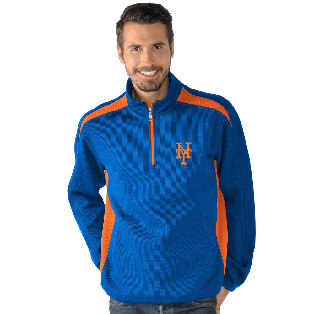 NEW YORK METS Men's Hail Mary Half Zip Pullover - NAVY