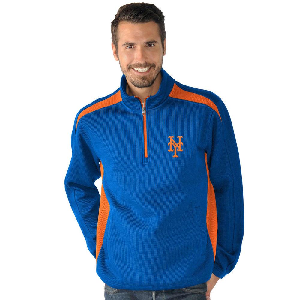 NEW YORK METS Men's Hail Mary Half Zip Pullover - NAVY