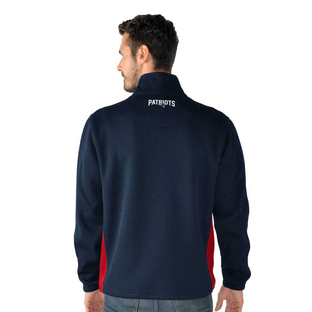 NEW ENGLAND PATRIOTS Men's Hail Mary Half Zip Pullover - NAVY