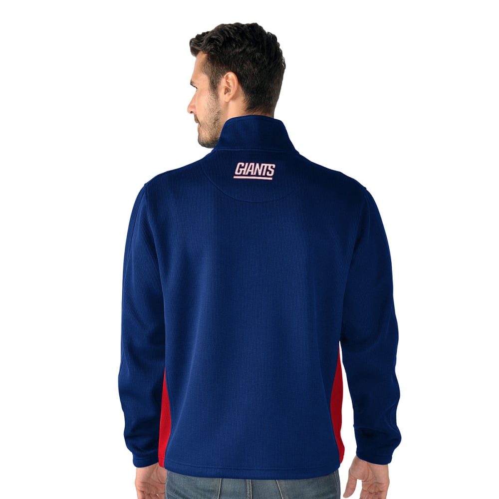 NEW YORK GIANTS Men's Hail Mary Half Zip Pullover - ROYAL BLUE