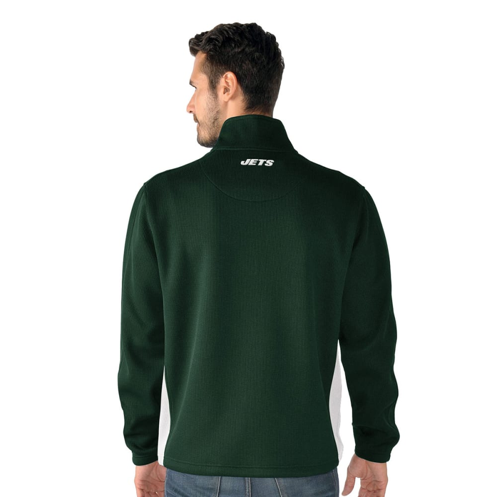 NEW YORK JETS Men's Hail Mary Half Zip Pullover - GREEN