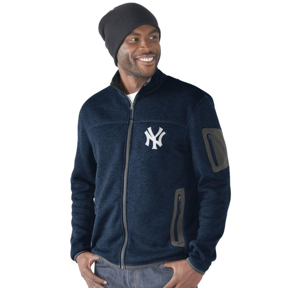 NEW YORK YANKEES Men's Campfire Full-Zip Jacket - DARK NAVY