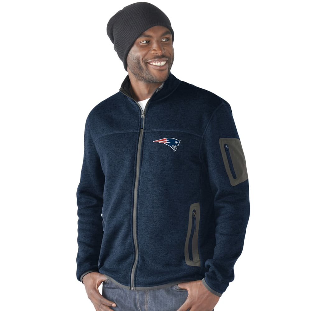 NEW ENGLAND PATRIOTS Men's Campfire Full-Zip Jacket - NAVY