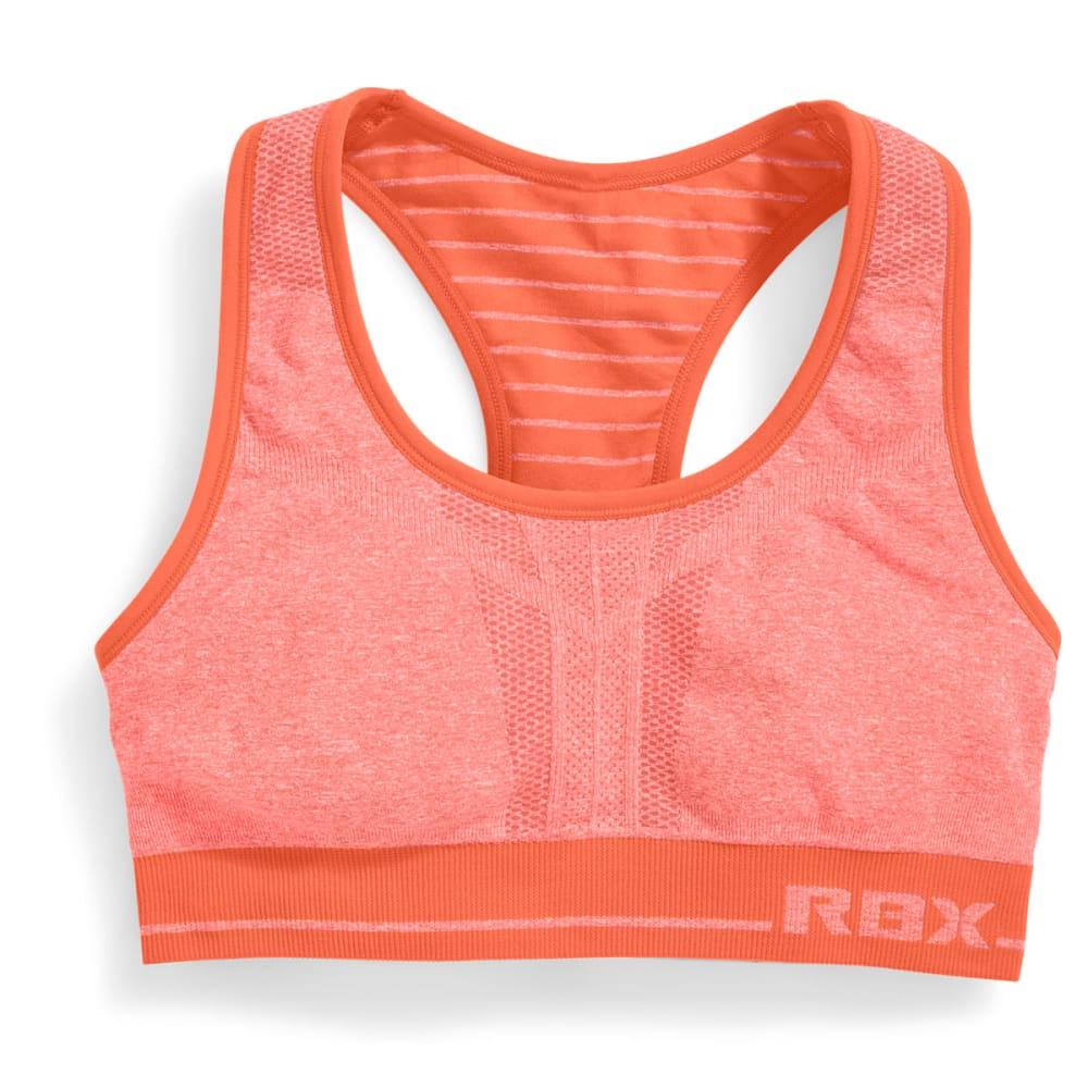 RBX Women's Reversible Seamless Sports Bra - CORAL-A