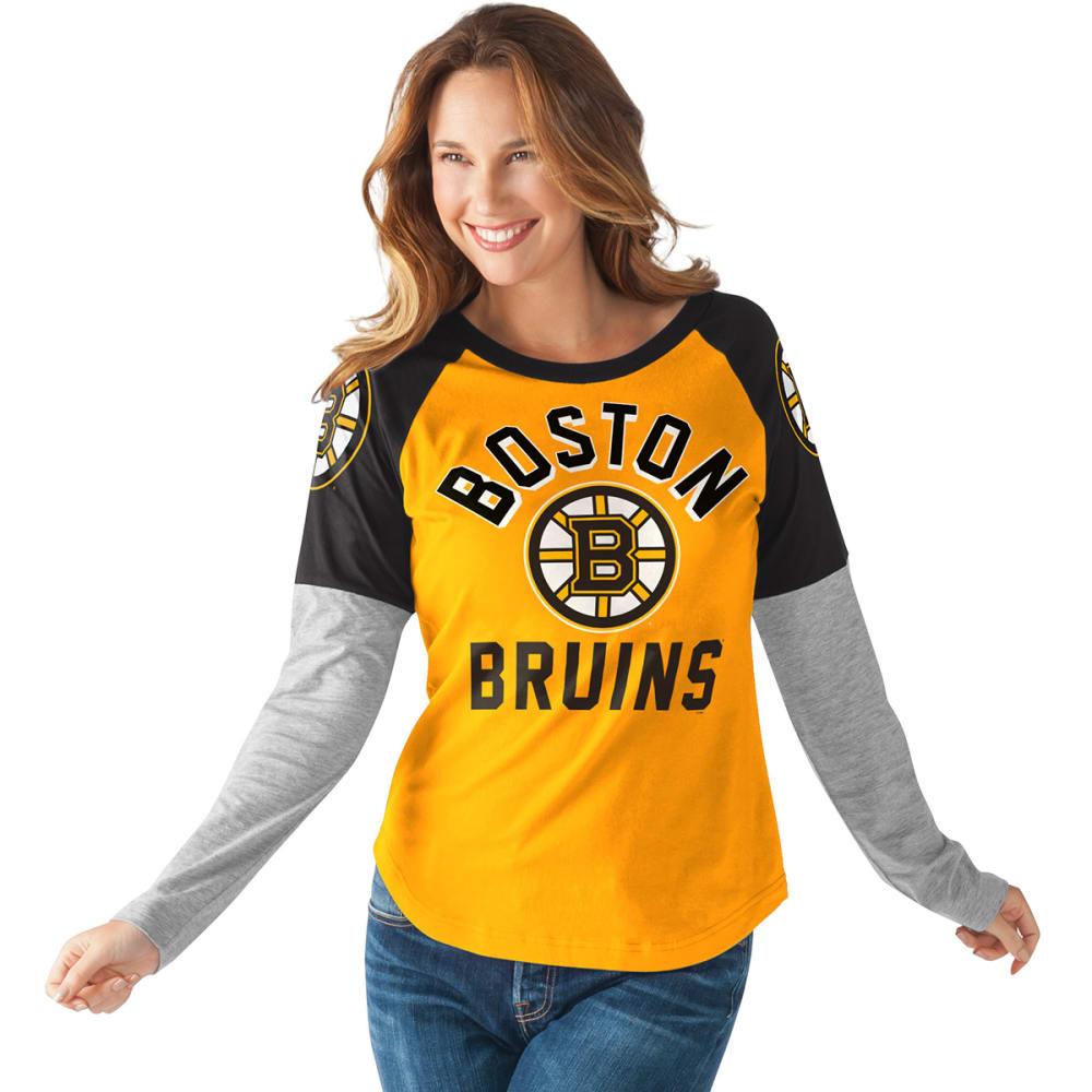 BOSTON BRUINS Women's Power Play Long-Sleeve Tee - BLACK