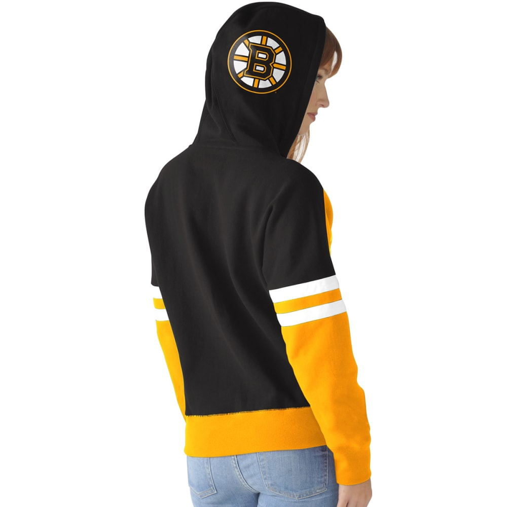 BOSTON BRUINS Women's Backhand Pullover Hoodie - BLACK