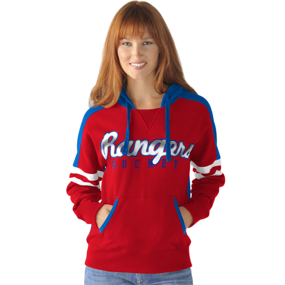 New York Rangers Women's Backhand Pullover Hoodie - Red, L
