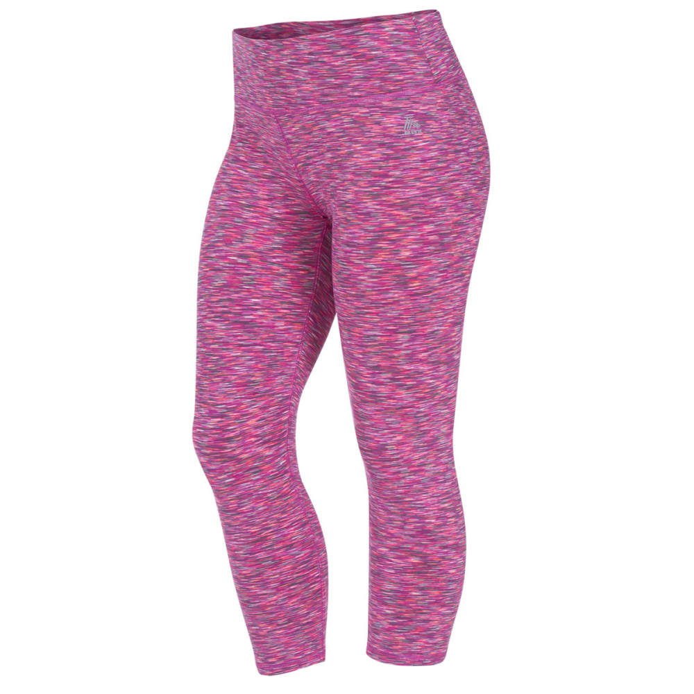 "RBX Women's 21"" Color Space Dye Leggings - FRSTD MAGENTA/GRY-B"