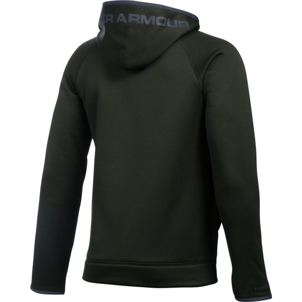 UNDER ARMOUR Boys' Storm Armour Fleece Highlight Big Logo Hoodie - ARTILLERY GRN-357