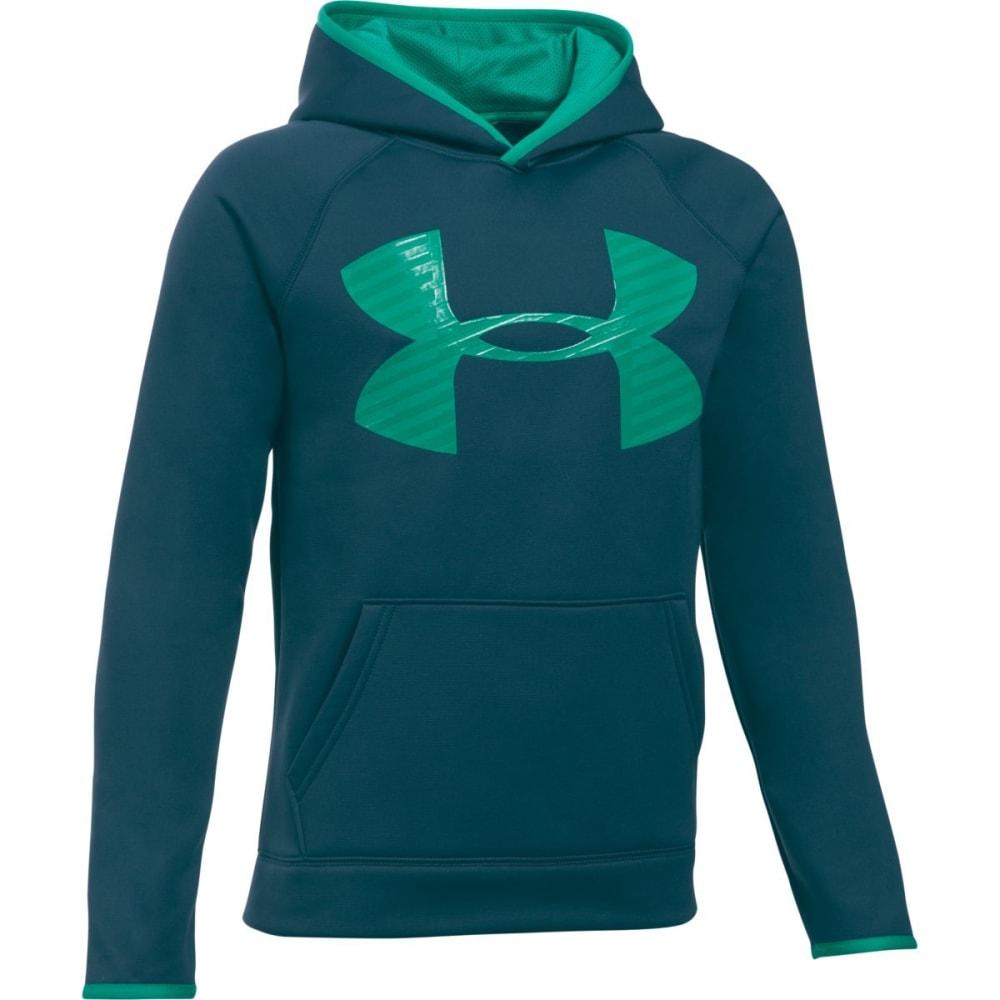 UNDER ARMOUR Boys' Storm Armour Fleece Highlight Big Logo Hoodie - NOVA TEAL-861