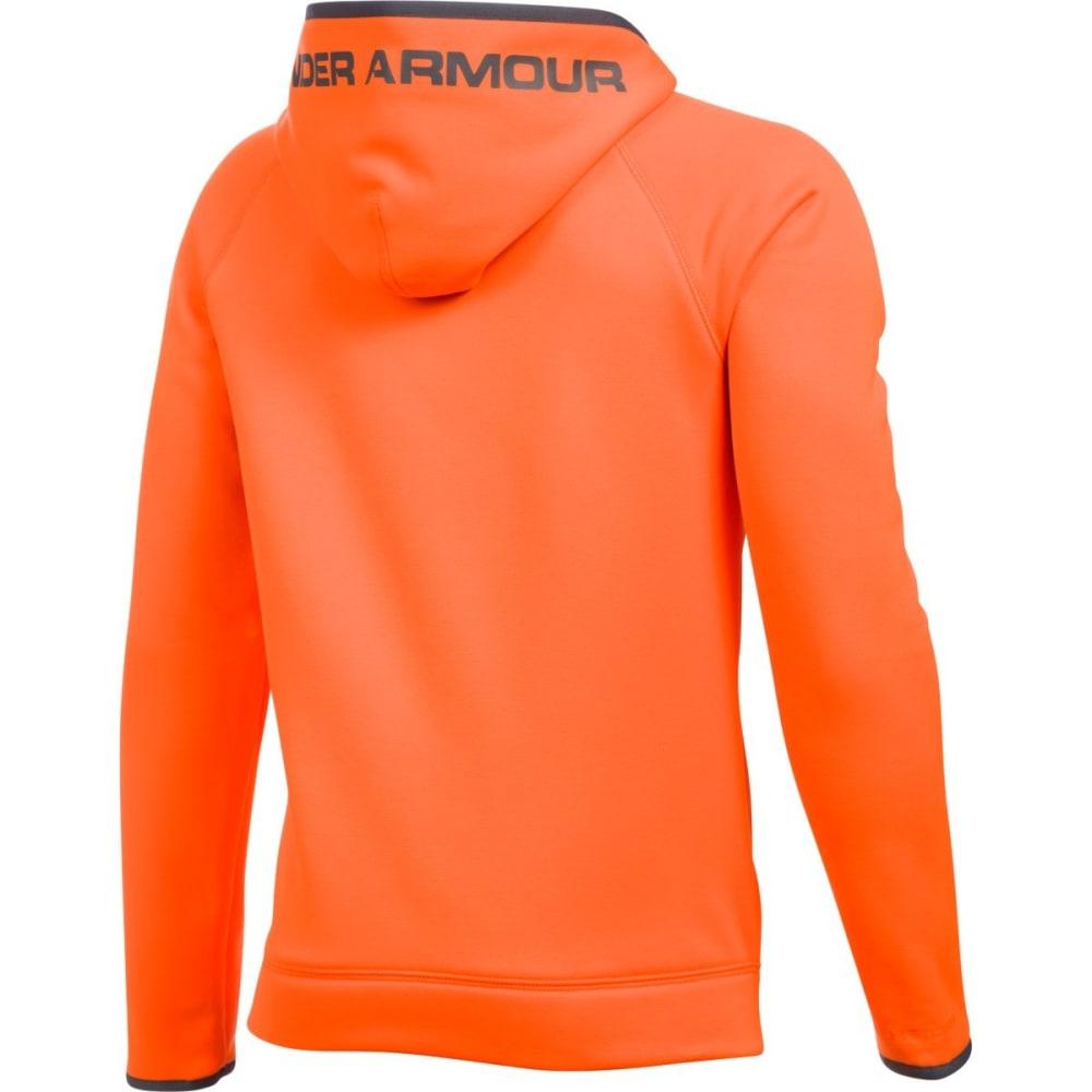 UNDER ARMOUR Boys' Storm Armour Fleece Highlight Big Logo Hoodie - BLAZE/GRAPH-825
