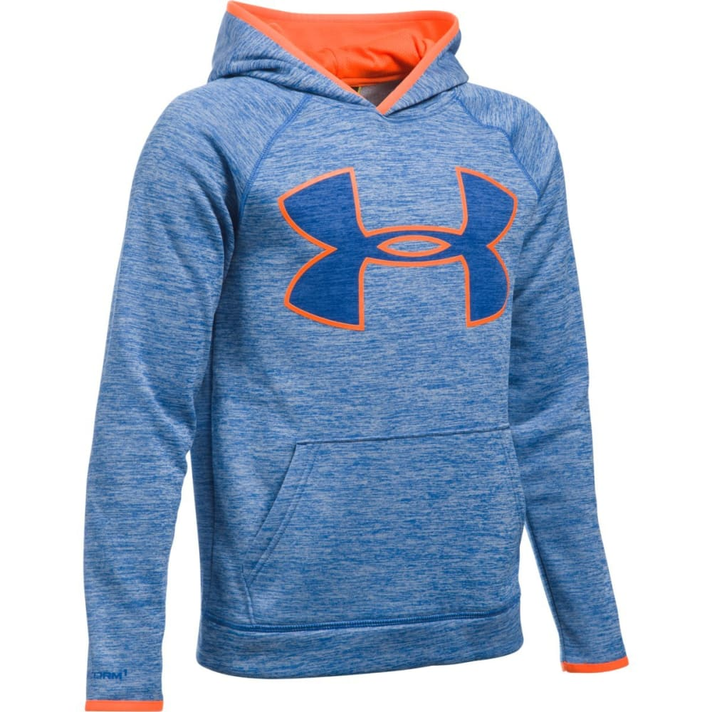 UNDER ARMOUR Boys' Storm Armour Fleece Twist Highlight Hoodie - ULTRA BLUE/ORNG 907