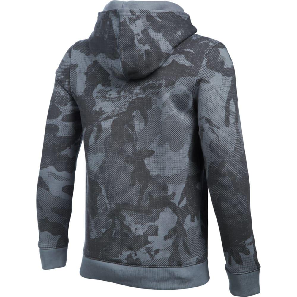 UNDER ARMOUR Boys' Sportstyle Fleece Printed Hoodie - STEEL/BLK-035