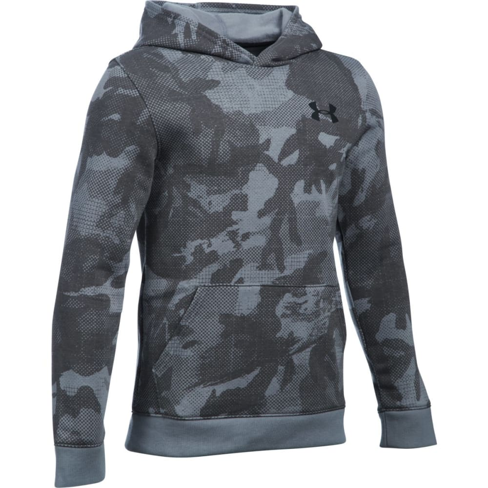 UNDER ARMOUR Boys' Sportstyle Fleece Printed Hoodie - STEEL/BLK-035