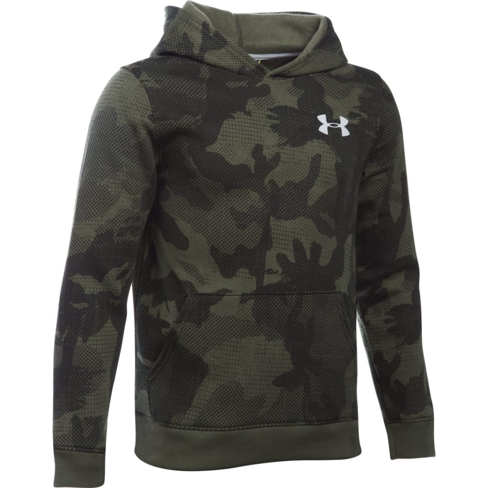 UNDER ARMOUR Boys' Sportstyle Fleece Printed Hoodie - ROUGH/OVERCAST-334
