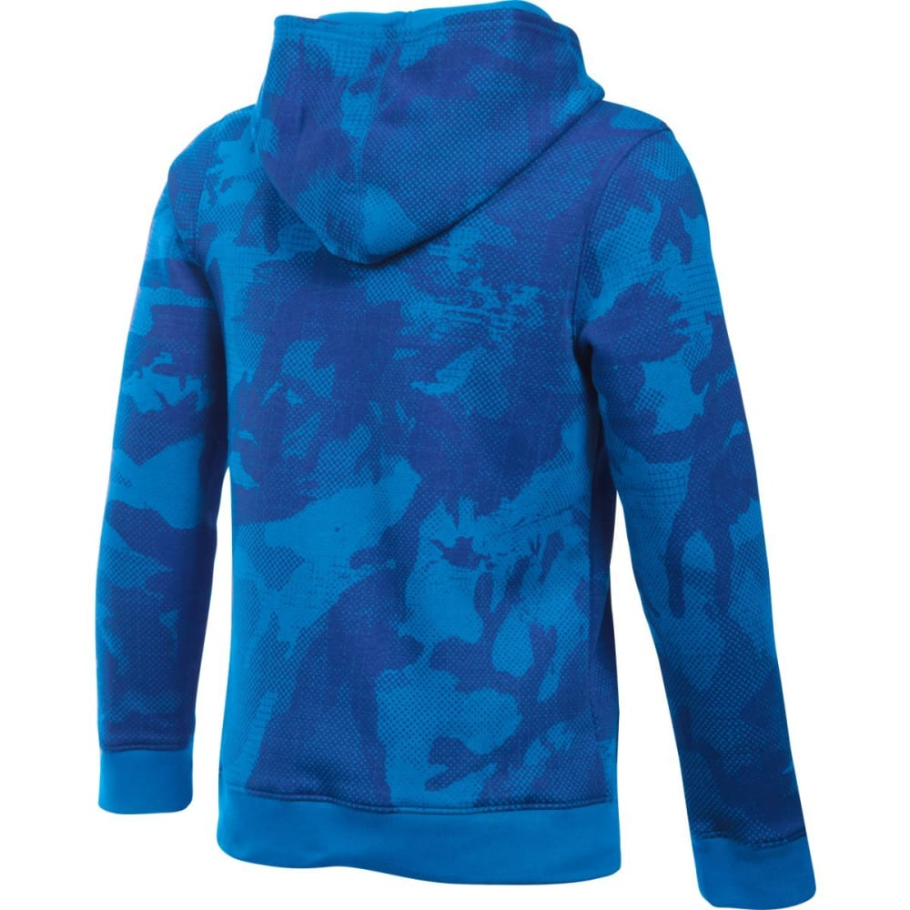 UNDER ARMOUR Boys' Sportstyle Fleece Printed Hoodie - SAIL BLU/GRAPH-992