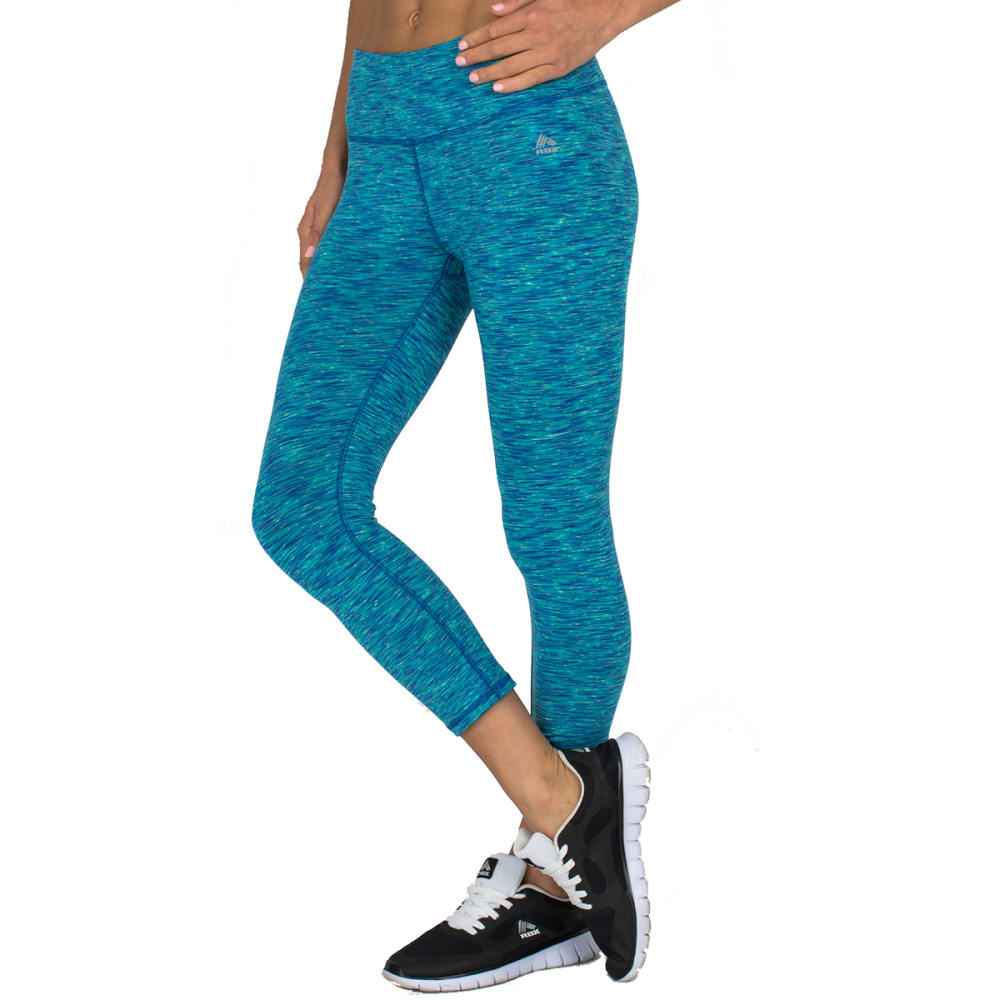 """RBX Women's 21"""" Speckled Peached Outside Leggings - CARRIBEAN SEA-D"""