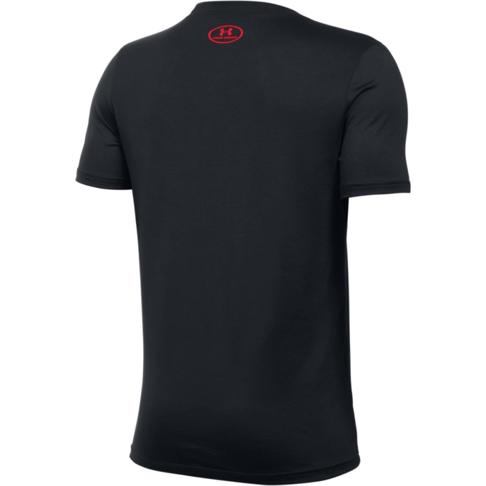 UNDER ARMOUR Boys' Respect All Fear None Tee - BLK/STEEL/RED-001