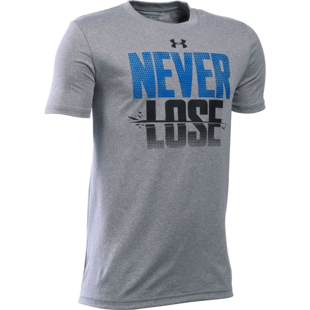 UNDER ARMOUR Boys' Never Lose Short-Sleeve Tee - TGH/ULTRA BLU