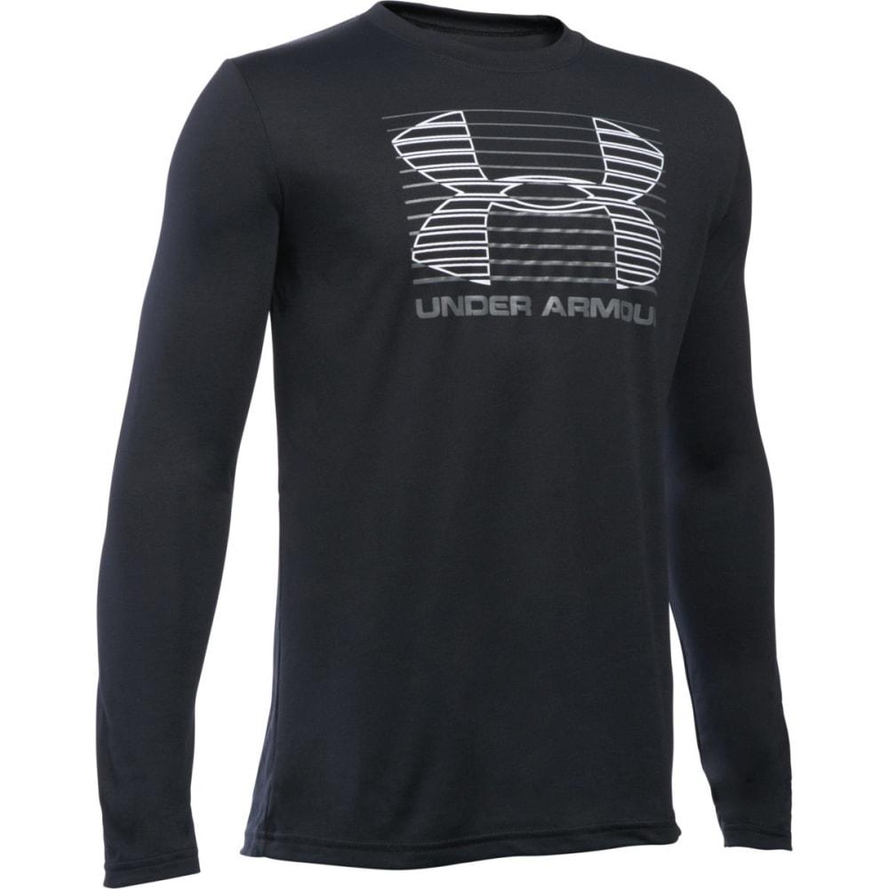 UNDER ARMOUR Boys' Breakthrough Logo Long-Sleeve Tee - BLACK/GRAPHITE 001