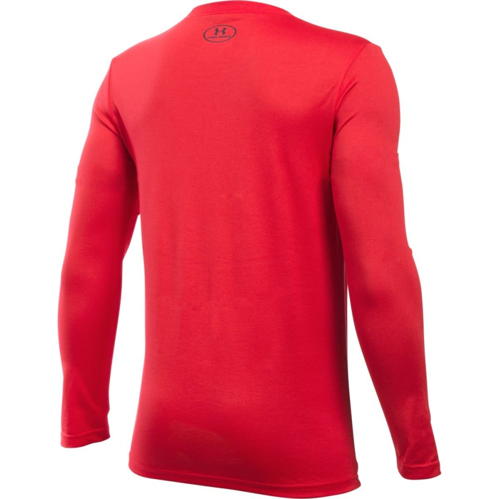 UNDER ARMOUR Boys' Breakthrough Logo Long-Sleeve Tee - RED/BLK-600