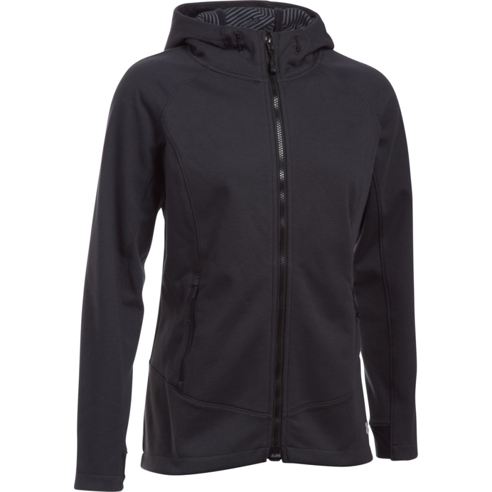 UNDER ARMOUR Women's ColdGear Dobson Softershell Hoodie - -005 ASPHALT HEATHER