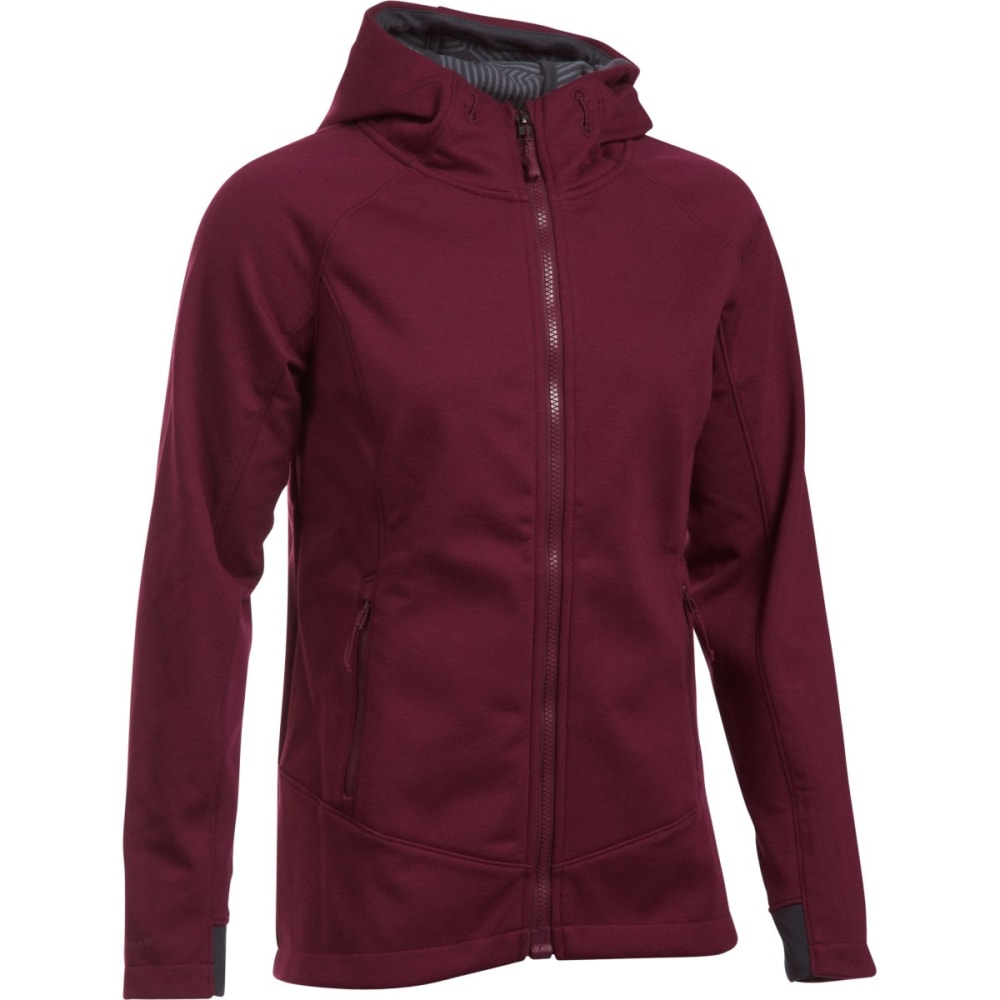 UNDER ARMOUR Women's ColdGear Dobson Softershell Hoodie - -609 MAROON